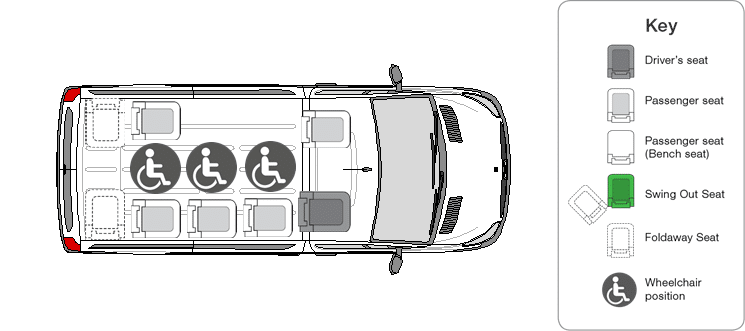 Vehicle Layout 01HCT19 00000003 - Renault Master Long Wheelbase - Wheel Chair Accessible