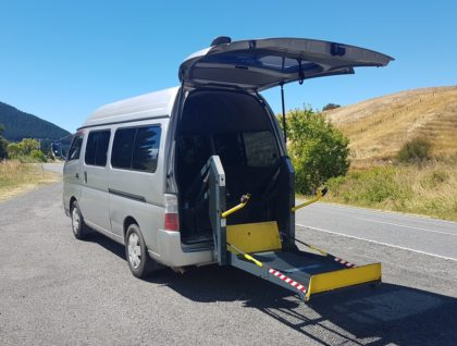 Nissan Caravan exterior 420x318 - Nissan Caravan Wheelchair Accessible with Additional Seating for 3 People