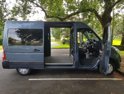 hero 420x318 - Renault Master MWB Accessible vehicle- Seating 4 plus 2 wheelchair passengers