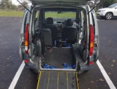 Rear ramp of Wheelchair accessible Renault Kangoo with lowered floor