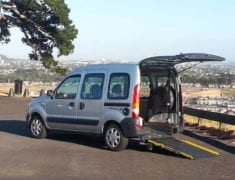 Wheelchair accessible Renault Kangoo with lowered floor and rear ramp