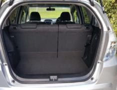 Honda Fit Shuttle Hybrid Disability vehicle hire - open trunk
