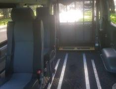 Spacious interior of Wheelchair Accessible Toyota Hiace Van