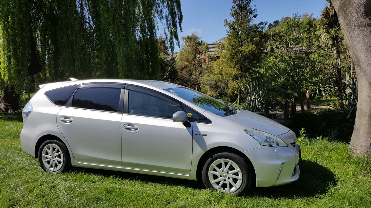 Toyota Prius Alpha Stationwagon with Push-Pull Hand Controls