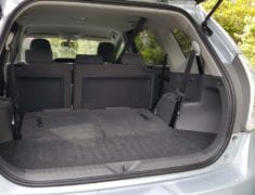 Boot with seats down of Toyota Prius Alpha Station wagon
