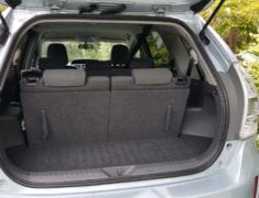 Boot with seats up of Toyota Prius Alpha Station wagon