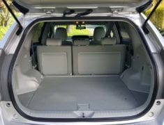 Boot of Toyota Prius Alpha Stationwagon with Push-Pull Hand Controls with seats up