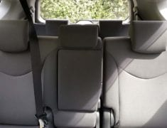 Interior of Toyota Prius Alpha Stationwagon with Push/Pull Hand Controls 7 seats