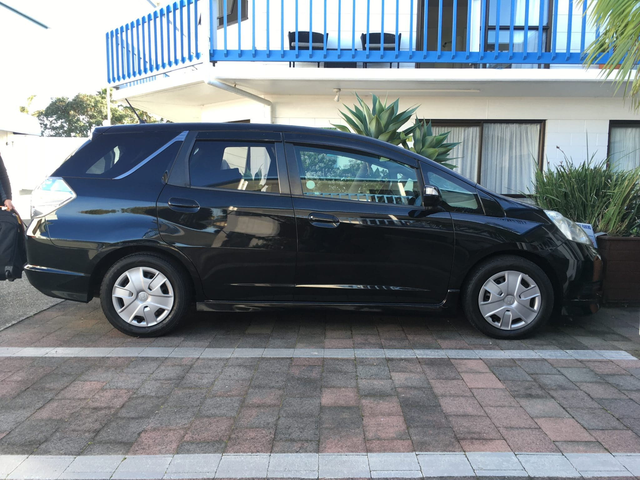 Hybrid Honda Fit Shuttle at Snells Beach Motel