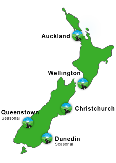 mobility vehicle rental NZ location map - Home