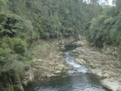 Wairoa River at McLaren Falls power station 240x180 - McLaren Falls